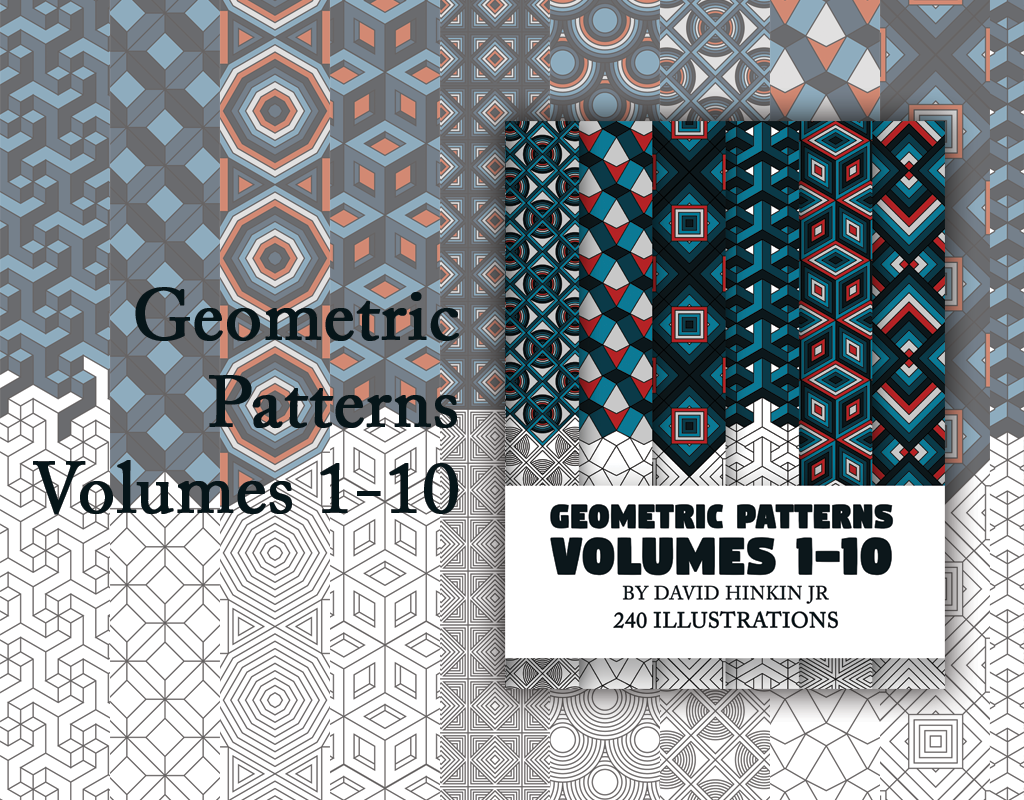 geometric patterns volumes 1-10 inkcartel.net